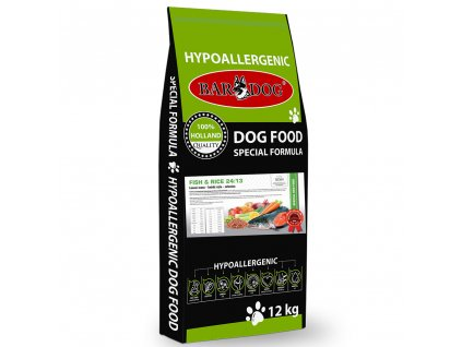 bardog krmivo pre psov hypoalergene fish and rice