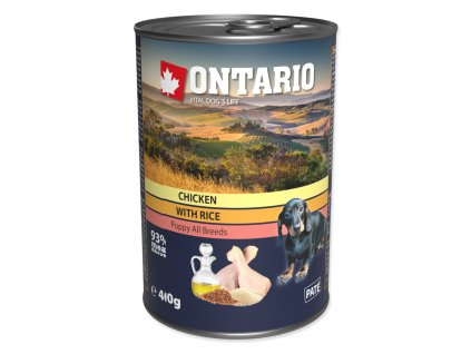 ontario puppy chicken rice inseed oil 400 gdogee sk