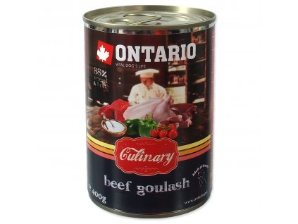 Ontario konzerva pre psov culinary minestorne hovedzie gulas dogee sk