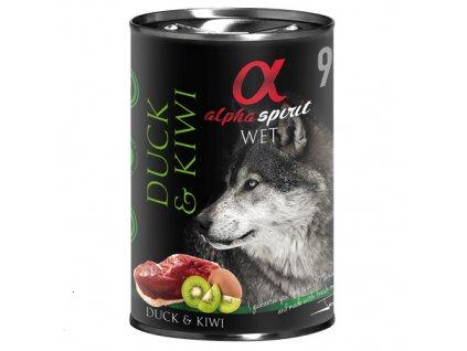 konzervy pre psov alpha spirit kačka dogee