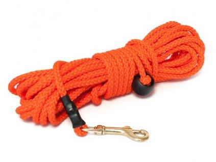 mystique nylonove stopovacie voditko gulate 7mm neon oranzova 50m bronz karabina dogee sk