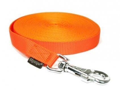 stopovacie voditko neon oranzova nylon 30m