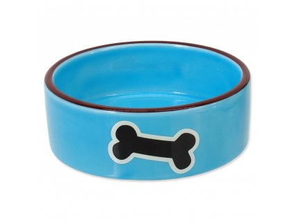 miska pre psa keramicka kost modra