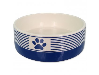 DOG FANTASY keramická miska s packou-tm. modrá 0,77l/16x6cm
