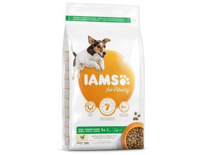 IAMS krmivo pre psov Adult Small & Medium Chicken