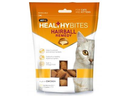 pamlsky pre mačky hairball vetiq