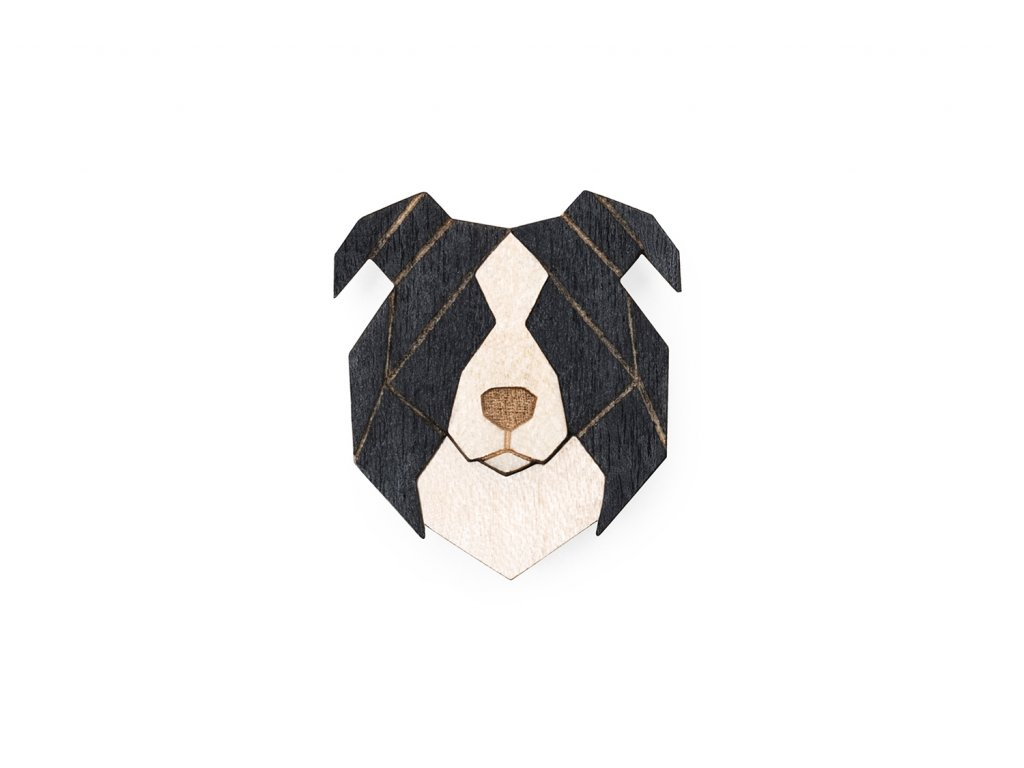 0 Border collie brooch cover