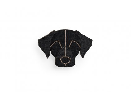 0 Black labrador brooch