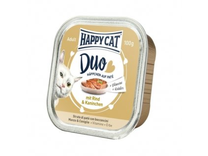 Happy Cat Duo Menu - Hovězí & Králík 100 g