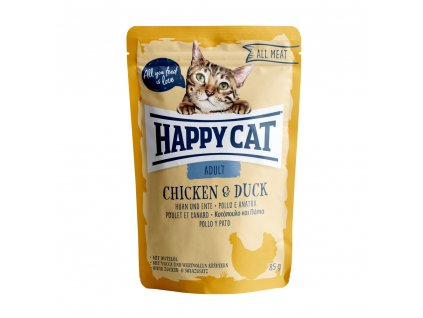 Happy Cat Kapsička ALL MEAT Adult Huhn & Ente 85g