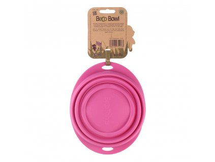 beco travel bowl pink