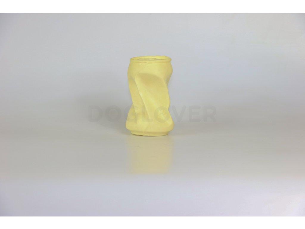 Eco friendly hračka pro psy plechovka žlutá, 16cm/110g