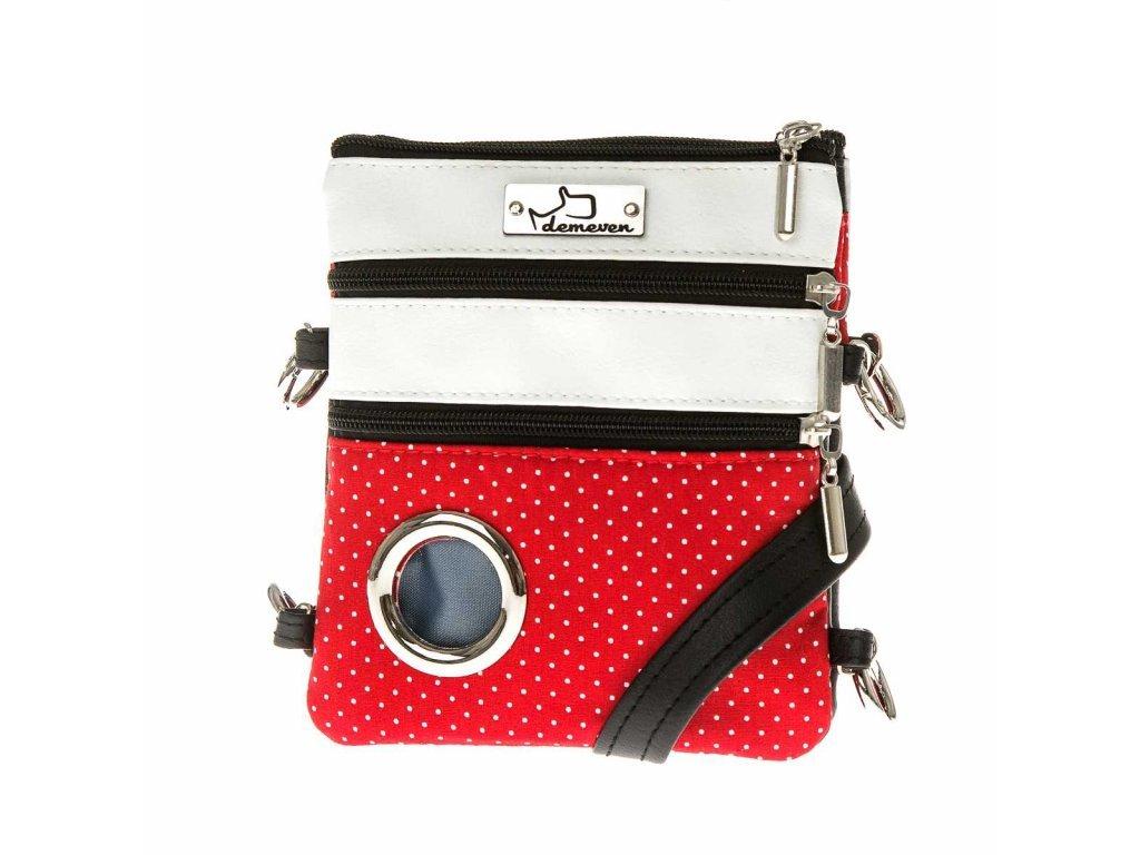 1131 1 eve kabelka na venceni psa vencici pamlskovnik vycvikova sukne vesta kapsicka pamlsky pytlicky cervena