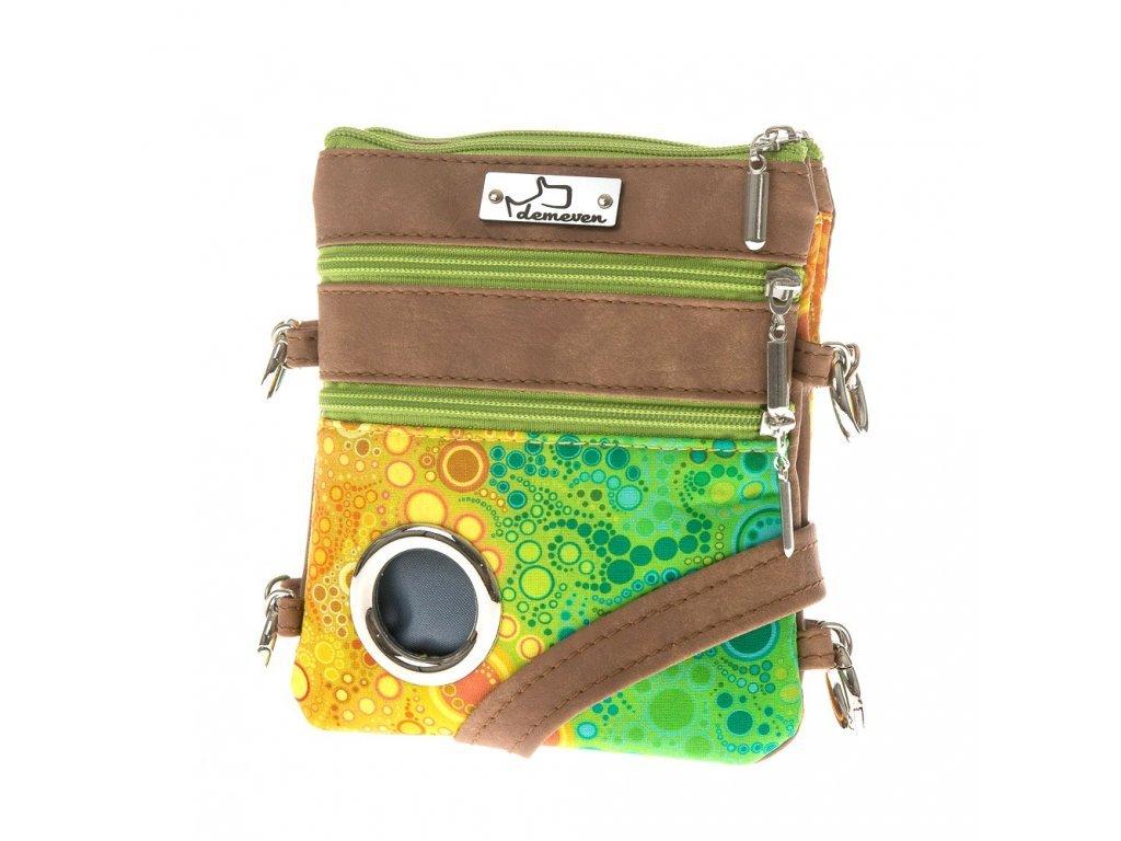 1086 sumatra 1 kabelka na venceni vycvik psa pamlskovnik kapsa na pamlsky na cvicak pytlicky taska demeven hneda zelena