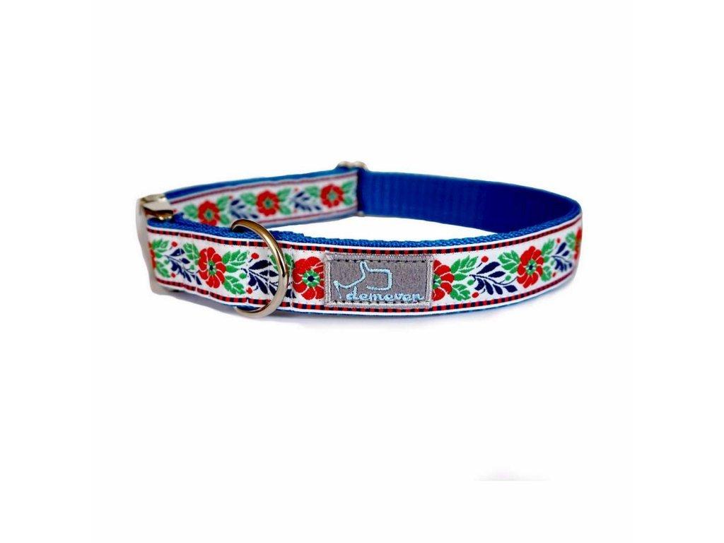 624 baldachynek bilo modra shop obojek pro psa psi folklorni krasny svatebni stylovy modry vysivany demeven cesky handmade