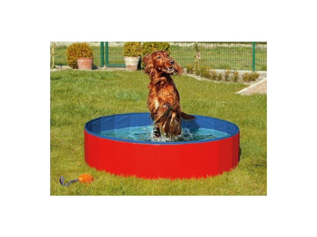 Skladaci bazen pro psy modro cerveny 120x30cm 110520171428526861