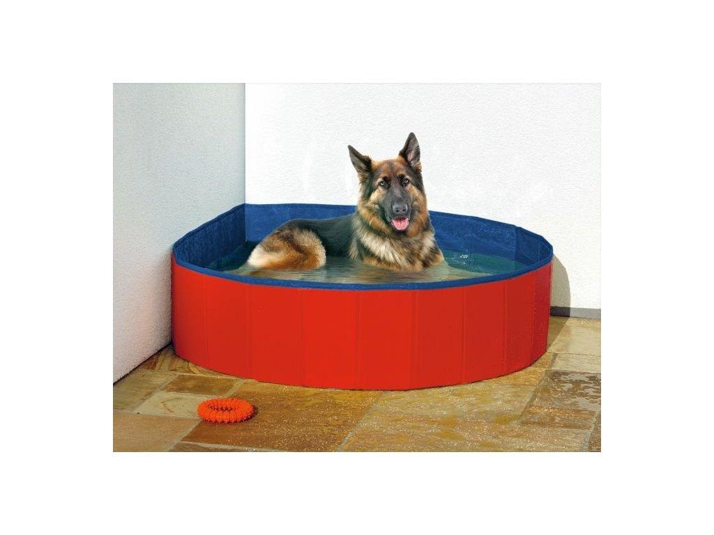 Karlie skládácí bazén pro psy 160 x 30 cm, modro/červený