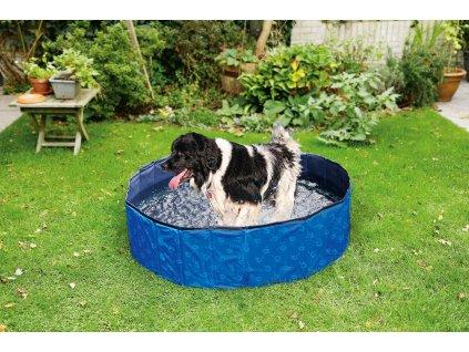 Karlie bazén pro psy 120 x 30 cm, modrý/černý
