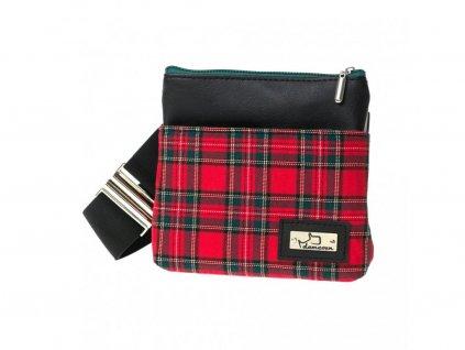 1044 marion skotska kostka cerveny pamlskovnik kapsicka na pamlsky pro vycvik venceni psa na svicak prochazky ledvinka okolo pasu demeven
