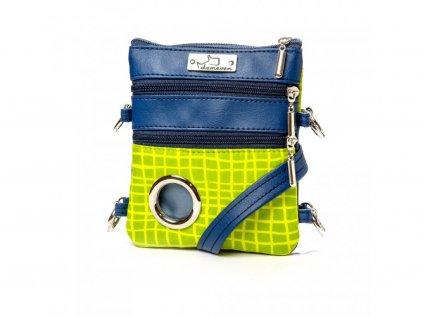 1361 salvador vychytana kabelka na venceni demeven zelena modra pro psy psa panicka