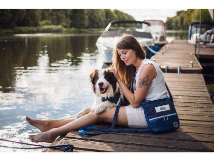 1143 1 navy velka kabelka na venceni modra obojek sada voditko australsky ovcak vencici pamlskovnik demeven originalni krasny stylovy vycvik psa sukne vesta vybava stene