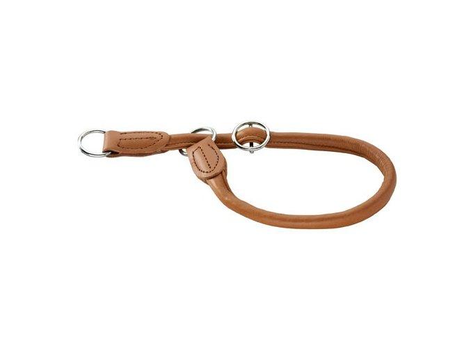 Hunter kožený obojek Round & Soft,Vel. 50: obvod krku 50 cm