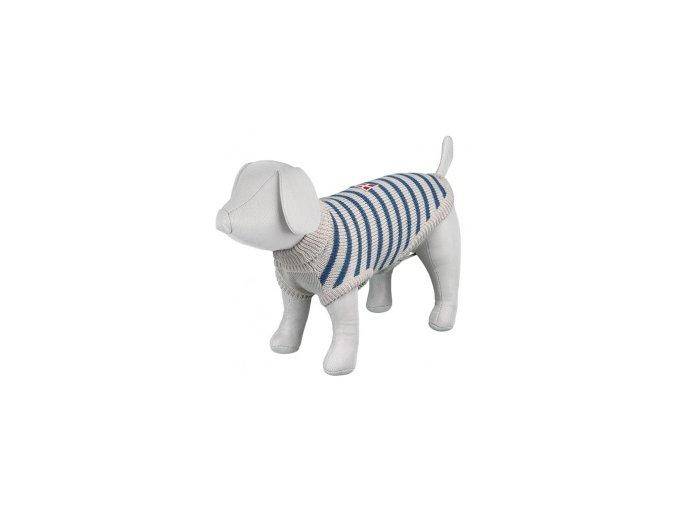 svetr pro psy trixie s milton sedo modra 33cm small product