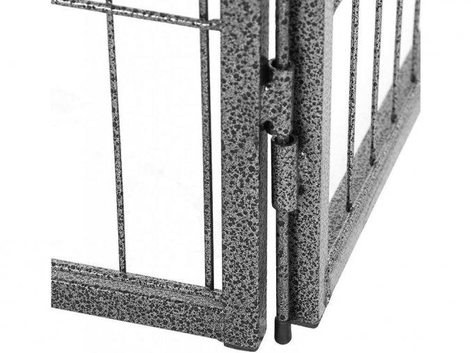 4694 8 kovova ohradka pro pejsky a stenata 8 dilna 80 x 60 cm seda