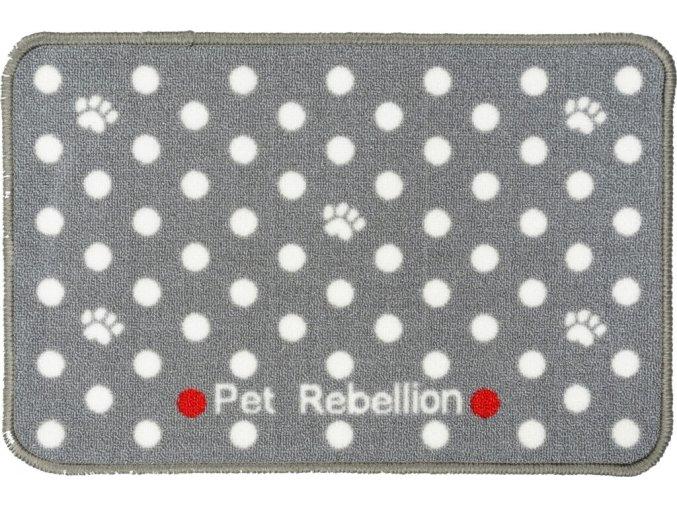 14544 1 koberecek pod misky pet rebellion dinner mate sedy 60cm