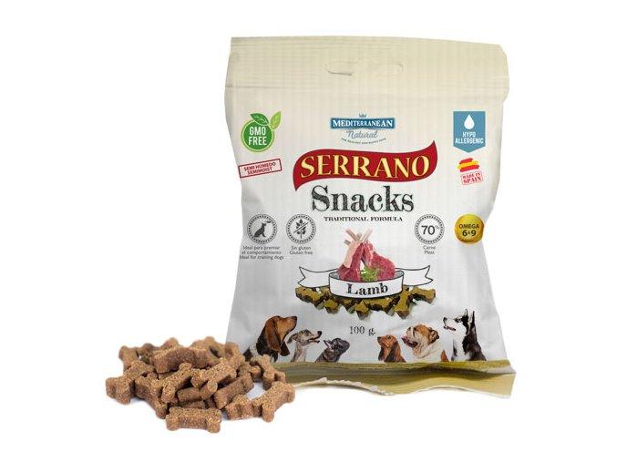 Serrano Snacks cordero para perros de Mediterranean Natural
