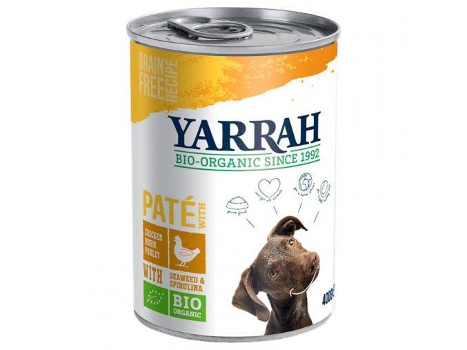 23948 pla 7076n yarrah dog pate chicken 400g tin 1 packshot 1
