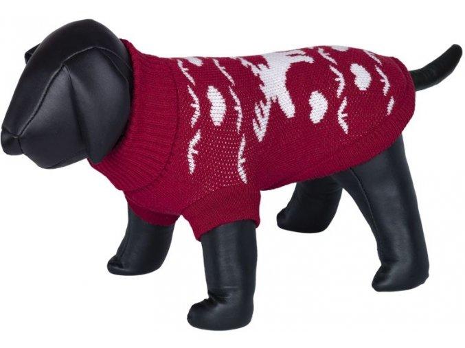 Nobby HIRSCHI svetr pro psy se sobem červená (Velikost výrobku 48)