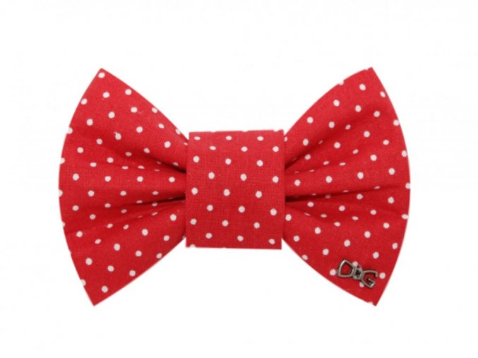 793 2 red with dots funky dog