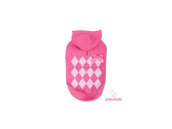 21485 1 pinkaholic mikina argyle hood xl 35 41 cm