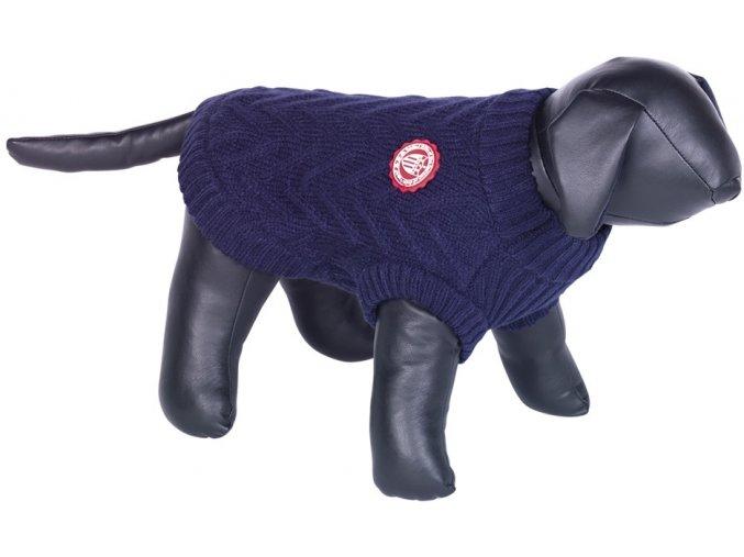 Nobby RICK pletený svetr pro psy modrá (Velikost výrobku 44)