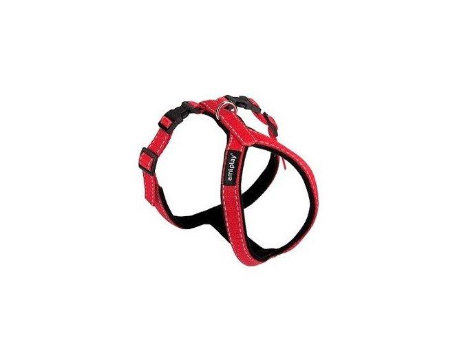 postroj pro psa nylonovy reflexni cerveny 1 x 26 x 34 43 cm
