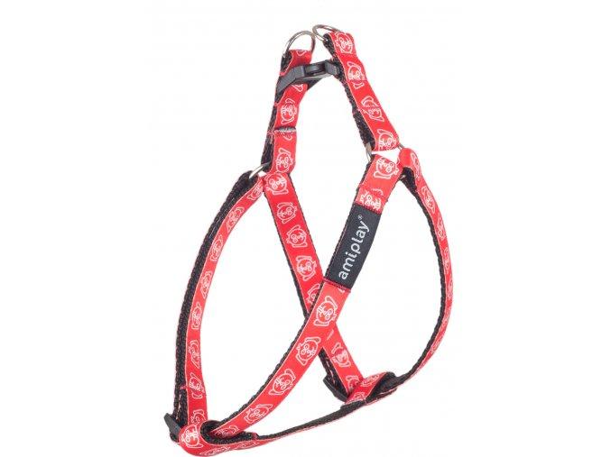 03. Adjustable Harness Joy Red Snout
