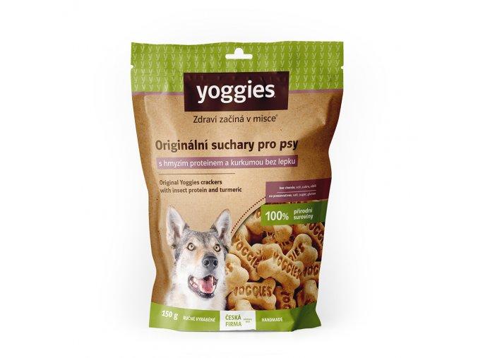 1096 yoggies hypoalergenni bezlepkove suchary s hmyzim proteinem a kurkumou 150g