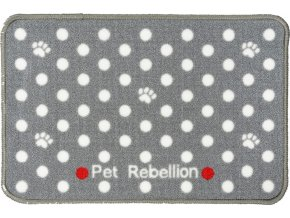 Kobereček pod misky Pet Rebellion Dinner Mate šedý 60cm