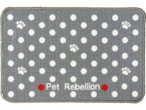 PET REBELLION Koberecek pod misku DM puntikovany sedy 2711201802301735118