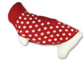 Svetr pro psy  grey white dots Vel.26 cm