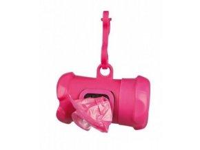 TRIXIE Pouzdro plast + sáčky na psí exkrementy kost růžová