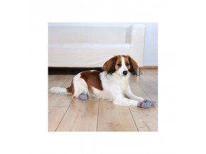 Ponožky pro psy Trixie protiskluzové šedá 2ks (Velikost výrobku XS-S)
