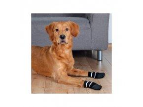 15582 protiskluzove ponozky cerne s m 2 ks pro psy bavlna lycra