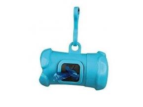 TRIXIE Pouzdro plast + sáčky na psí exkrementy kost modrá