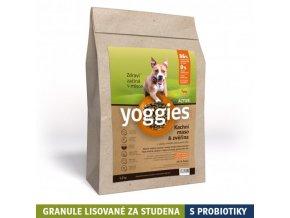 Yoggies active kachna a zvěřina, granule lisované za studena (Váha 5 kg)