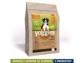 Yoggies 1,2kg MINI Active Kachna a zvěřina granule lisované za studena s probiotiky