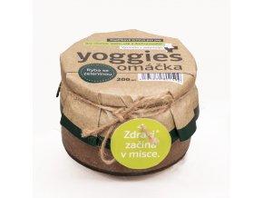 18132 omacka pro psy s rybou a korenovou zeleninou 200ml yoggies