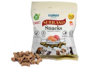 Serrano Snacks salmon y atun para perros de Mediterranean Natural