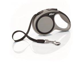 Vodítko Flexi New Comfort XS vodítko pásek 3m/12kg šedá